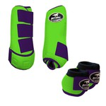 Kit Simples Color Boots Horse Cloche e Boleteira - Verde limão / Roxo