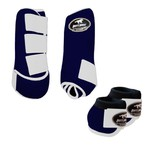 Kit Simples Color Boots Horse Cloche e Boleteira - Azul marinho / branco