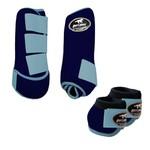 Kit Simples Color Boots Horse Cloche e Boleteira - Azul marinho / Velcro verde água