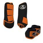 Kit Simples Color Boots Horse Cloche e Boleteira - Preto / Laranja
