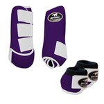 Kit Simples Color Boots Horse Cloche e Boleteira - Roxo / Velcro branco