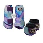 Kit Simples Color Boots Horse Cloche e Caneleira - Estampa 35 / velcro colorido