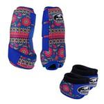 Kit Simples Color Boots Horse Cloche e Caneleira - Estampa A1 / Velcro Royal