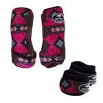Kit Simples Color Boots Horse Cloche e Caneleira - Estampa A05 / Velcro Marrom