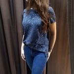 Camiseta Cutter Jeans - Dollar - Azul marinho e branco