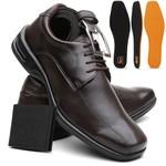 Sapato Social Masculino Confort Plus Anti-Impacto Café + Cinto E Carteira - Lorenzzo Lopez