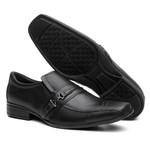 Sapato Social Masculino Metal Em Couro Preto - Style