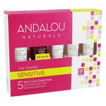 Kit inicial 1000 Roses - Sensitive - Andalou Naturals - Kit de 5 peças