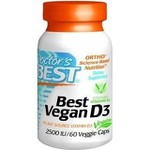 Best Vegan Vitamina D3 - 2500 IU - Doctor`s Best - 60 Veggie Caps