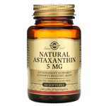 Astaxanthina Natural , Solgar, 5 mg, 60 Softgels