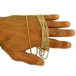 Corrente Bolinha de Ouro 18k Diamantada 80cm