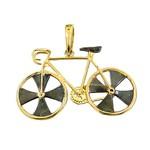 Pingente Bike em Ouro 18K