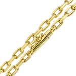 Corrente Cartier em Ouro Maciço Grossa18K 70cm