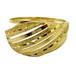 Anel de Ouro Feminino Diamantado