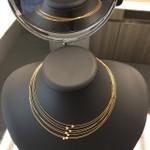 Gargantilha em Ouro 18k 7 Aros com Brilhantes