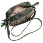 Bolsa Transversal Couro Matelassê Verde