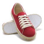 Tênis Casual Corda Vermelho CaLu Calçados