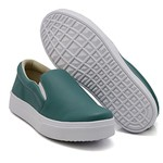 Slip On Liso Verde Pino DKShoes