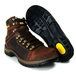 Bota Caterpillar Steel Toe Confort Plus Café Manchado