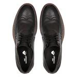 Sapato Casual Masculino Brogue Kangri Preto Samello