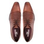 Sapato Clássico Masculino Oxford Rico Tresse Amêndoa Samello