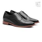Sapato Clássico Masculino Elevator Derby Daily Preto Samello