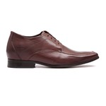 Sapato Clássico Masculino Elevator Oxford Patria Café Samello