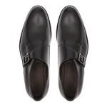 Sapato Clássico Masculino Monkstrap Velar Preto Samello