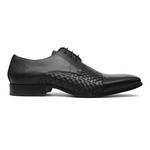 Sapato Clássico Masculino Oxford Rico Tresse Preto Samello