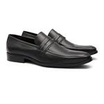 Sapato Clássico Masculino Loafer Charcas Preto Samello