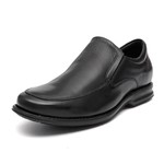 Sapato Clássico Masculino Comfort Gel Loafer Oran Preto Samello