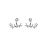 Brinco Ear Jacket em Prata 925 Oxidada - Bouquet | Coleção Flora