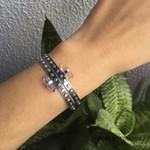 Bracelete Industrial Ametista | Coleção Industrial