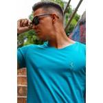 T-shirt Long Basic Tiffany Blue