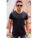 T-shirt Long Rose Black