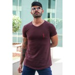 T-shirt Long Basic Burgundy