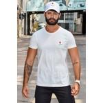T-shirt Basic Rose Off White