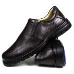 Sapato Social em Couro Floater Café Forrado Com Couro e Palmilha Gel 3040 -FRC