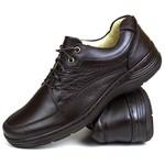 Sapato Social confort em Couro café 70049