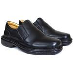 Sapato Social confort em Couro Preto 71219