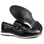 Brogue Premium Couro Comfort Preto Andora 8006