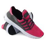Tênis Nylon Camurça Pink e Cinza 200