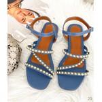 Sandália Azul com Zigzag