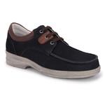 Sapato Casual em Couro cor Marinho REF. 1442-11221