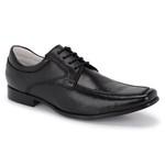 Sapato Social Tipo Italiano Em Couro Legitimo Na Cor Preto Ref. 1116-37