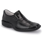 Sapato Conforto em Couro Cor Preto REF. 1435-821