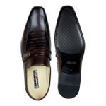 Sapato Social em Couro cor Vinho