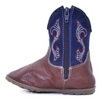 Bota Baby Bull Leather Cano Azul