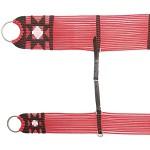 Conjunto de Barrigueira e Cilha de Seda Extra Macio (Vermelha)