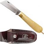 Canivete Sol Dourado c/ Bainha em Couro